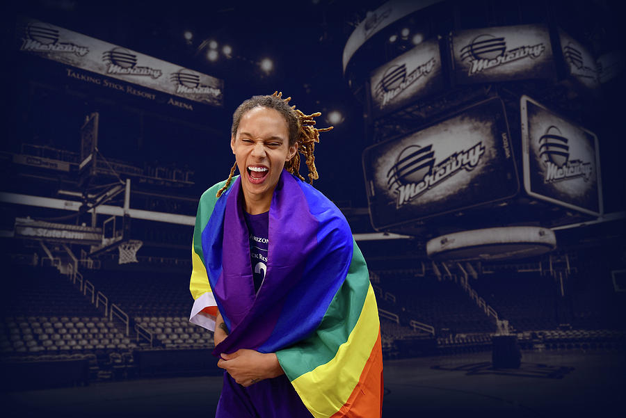 Brittney Griner Photograph - Brittney Griner LGBT PRIDE 6 by Devin Millington