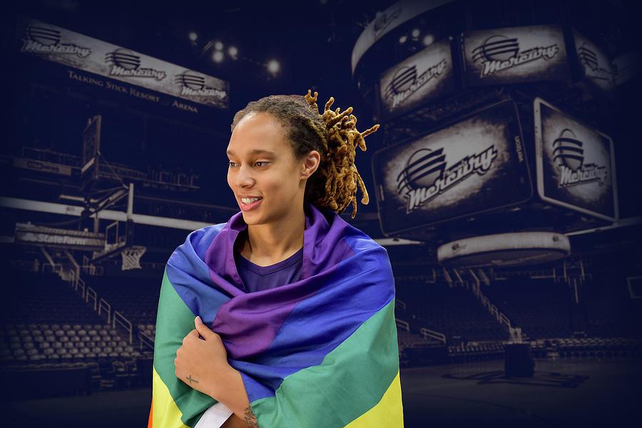 Brittney Griner Photograph - Brittney Griner LGBT PRIDE 7 by Devin Millington