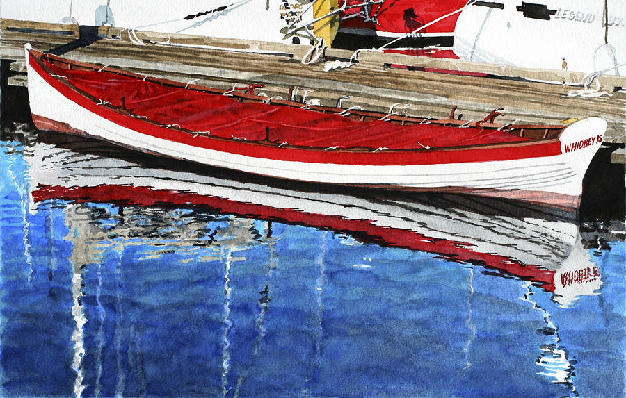 Row Boat Painting - Broad Daylight by Perry Woodfin