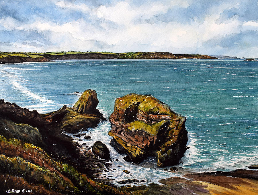 Seascape Painting - Broad Haven by Andrew Read