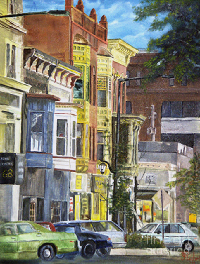 Cityscape Painting - Broad Street by CJ  Rider