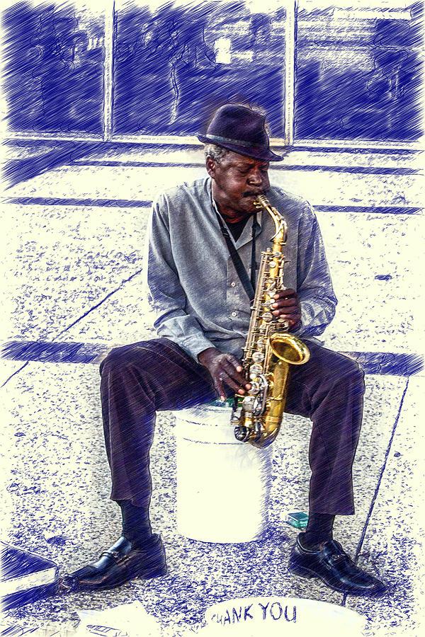 Broadway Digital Art - Broadway Blues by John Haldane