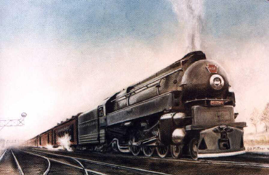 Trains Painting - Broadway Limited by David Mittner