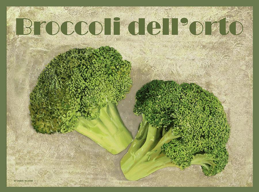 Broccoli Painting - Broccoli Da Orto by Guido Borelli