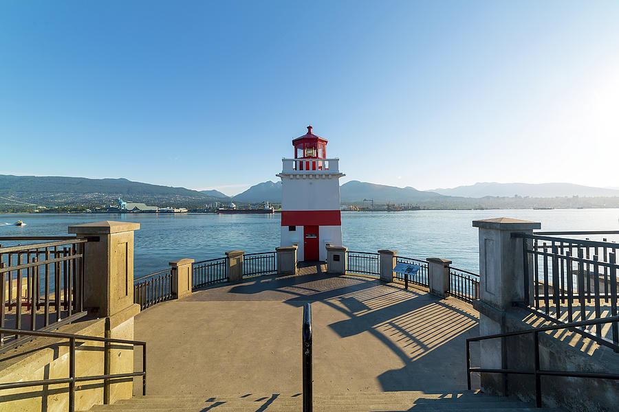 Vancouver Photograph - Brockton Point Lighthouse At Stanley Park by David Gn