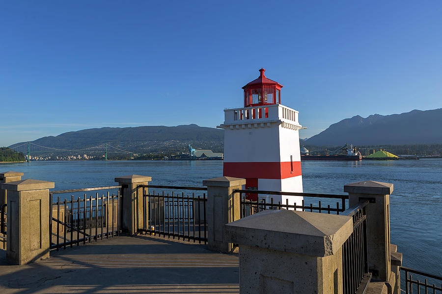 Vancouver Photograph - Brockton Point Lighthouse in Vancouver BC by David Gn