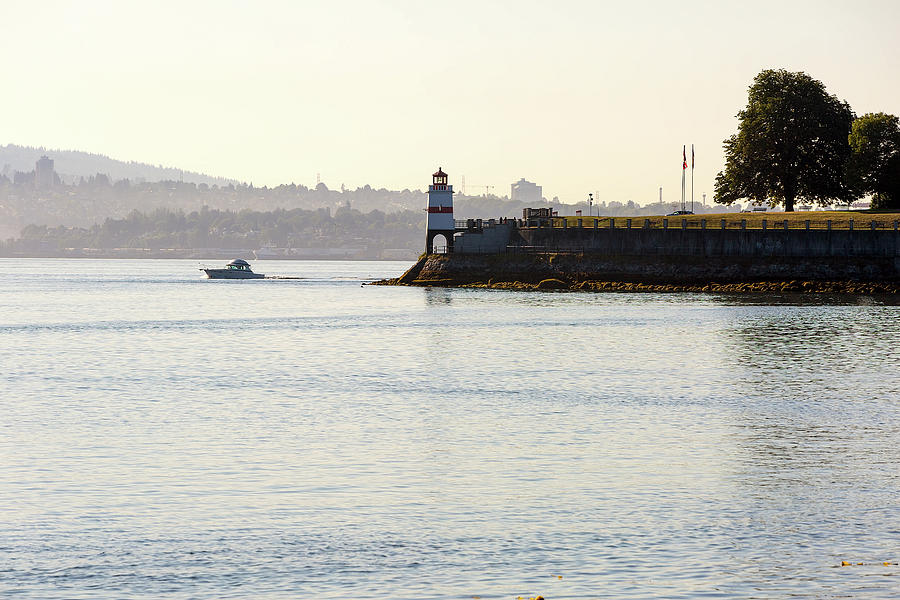 Vancouver Photograph - Brockton Point Lighthouse On Peninsula At Stanley Park by David Gn