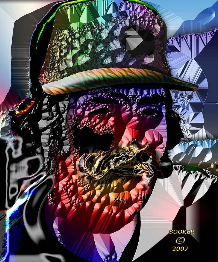 Popart Mixed Media - Broke The Razor by Booker Williams
