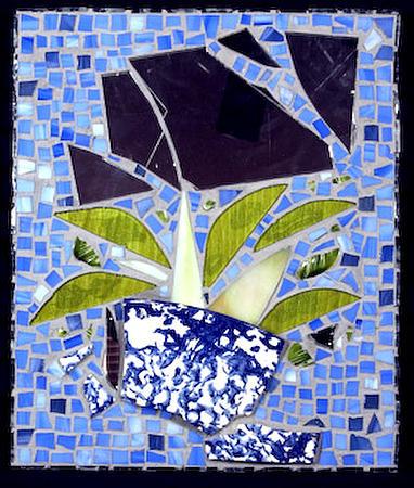 Plant Glass Art - Broken Again II by Diane Morizio