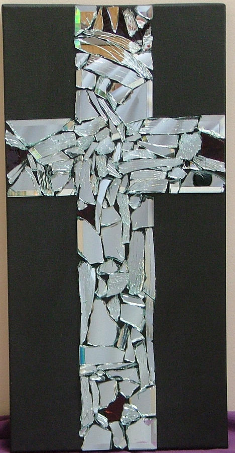 Cross Painting - Broken And Beautiful by Donielle Boal