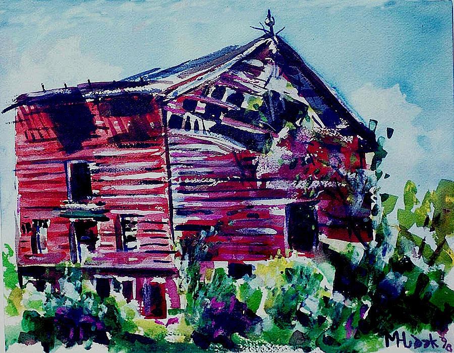 Barns Painting - Broken Barn by Michael Hudak
