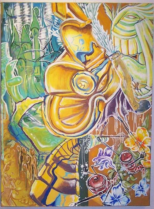 Graffitti Painting - Broken Dreams by Chan Shepherd