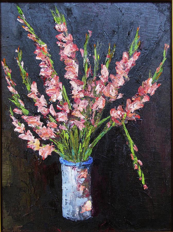 Gladiolas Painting - Broken Glad by Thomas Michael Meddaugh
