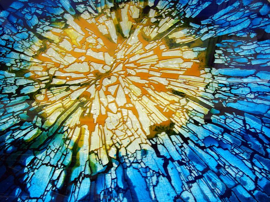 Abstract Photograph - Broken Glass by Bagiuiani Kostas