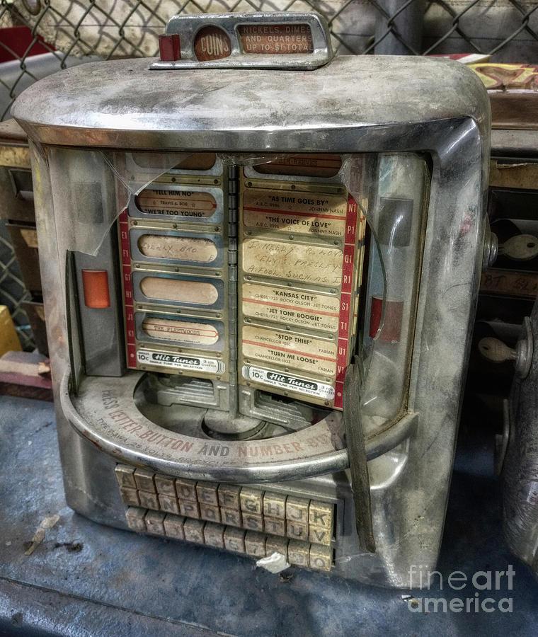 Jukebox Photograph - Broken Hit Tunes  by Steven Digman