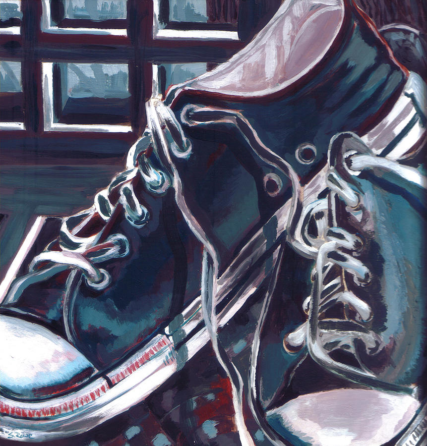 1c0c1d76d14d Broken-in Converse Painting by Shawna Rowe