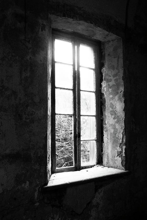 Window Photograph - Broken by Jennifer Hickey