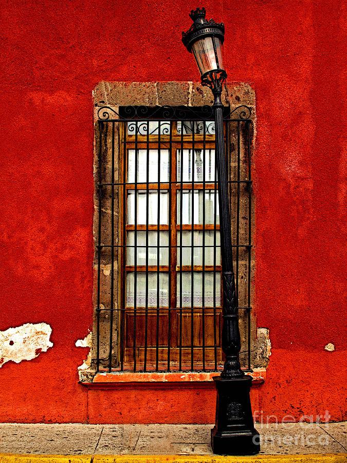 Tlaquepaque Photograph - Broken Lamp Post by Mexicolors Art Photography