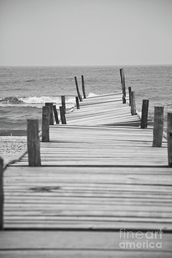 Black And White Photograph - Broken Pier by Gabriela Insuratelu
