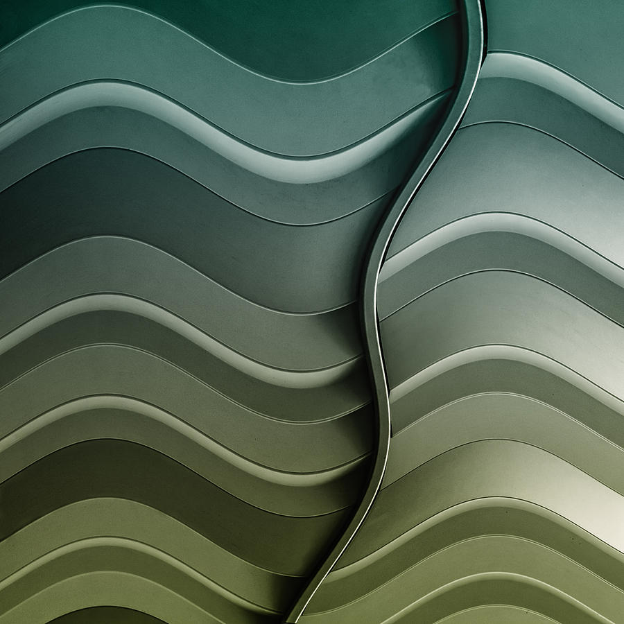 Abstract Photograph - Broken Waves by Luc Vangindertael