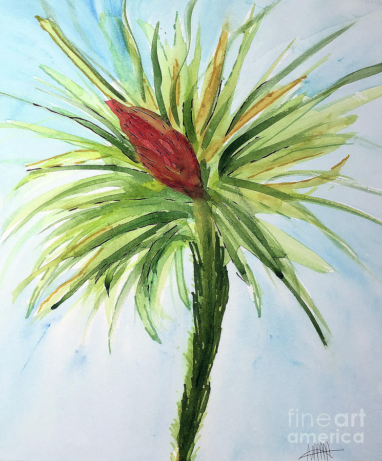 Flower Painting - Bromelaid No. 4 by Maura Satchell