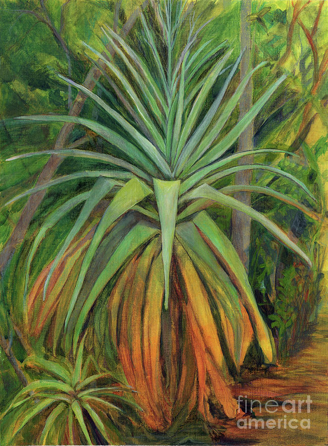 Plants Painting - Bromeliad and Pup by Amelia at Ameliaworks