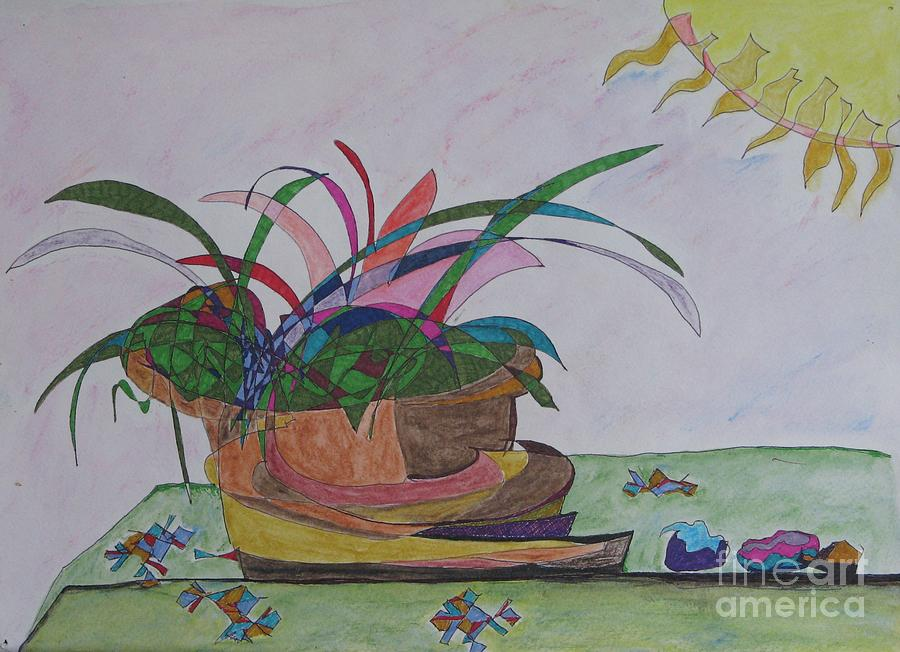 Abstract Painting - Bromiliad by James SheppardIII