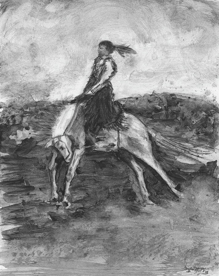 Woman Bronc Rider by Sheila Johns