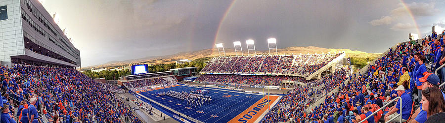 Boise State Photograph - Bronco Stadium Panoramic by Lost River Photography