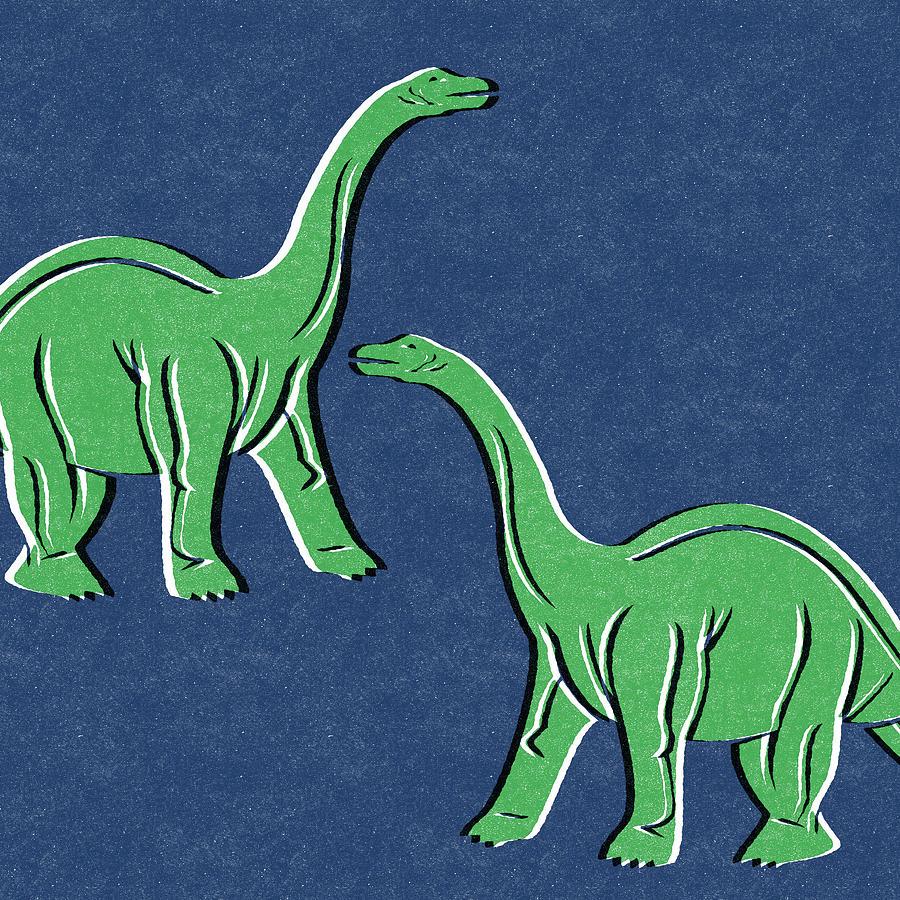 Brontosaurus Mixed Media