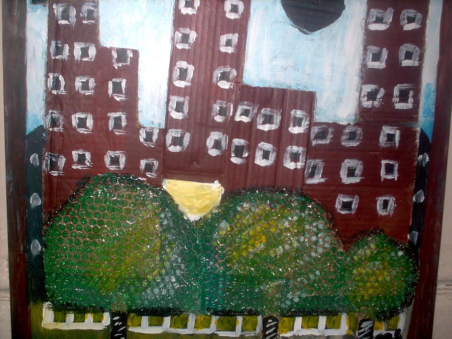 Landscap Painting - Bronx2 by Mahamadou Savane