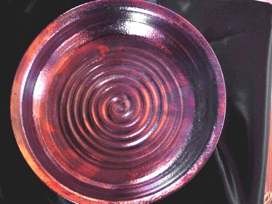 Raku Ceramic Art - Bronze Bowl by Jude  Winchester