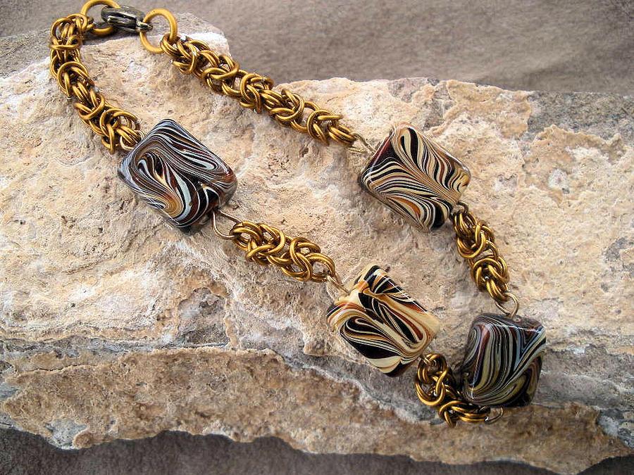 Bracelet Jewelry - Bronze Byzantine Bracelet by Donna Smith
