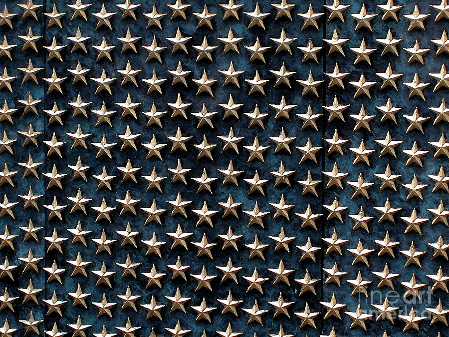 World War Ii Memorial Photograph - Bronze Stars by Steve Grisham