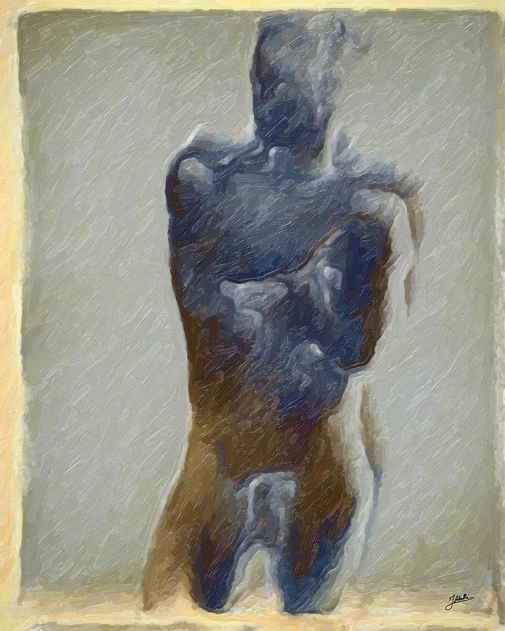 Abstract Digital Art - Bronze Statue by Joaquin Abella