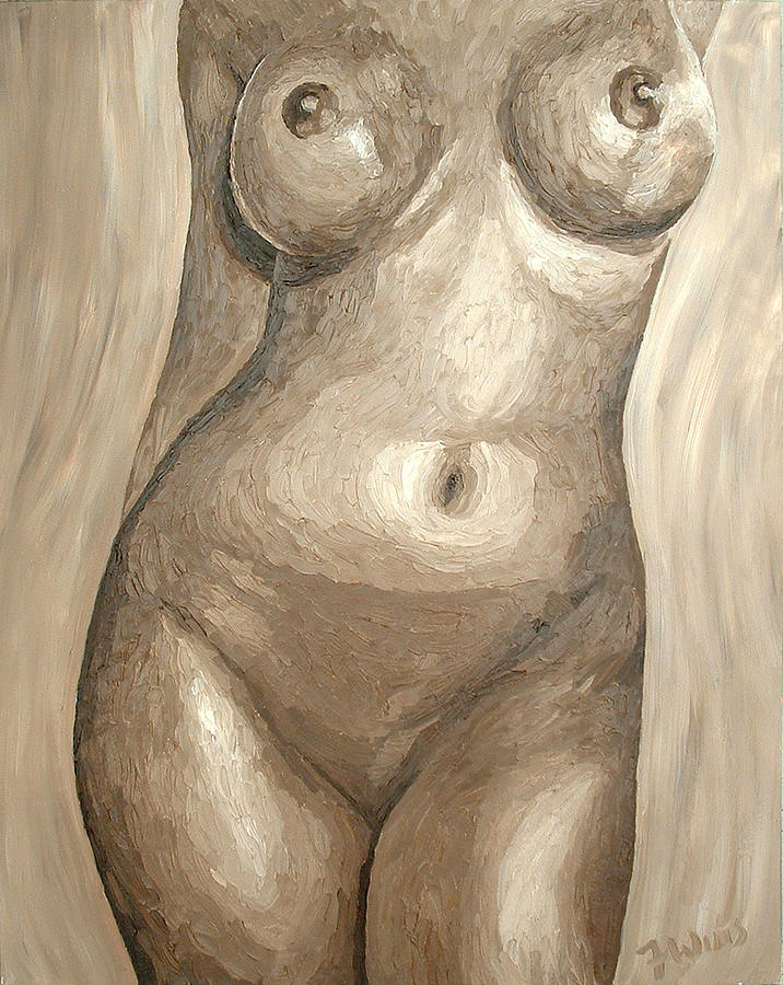 Nude Painting - Bronze Torso by Frank Wuts
