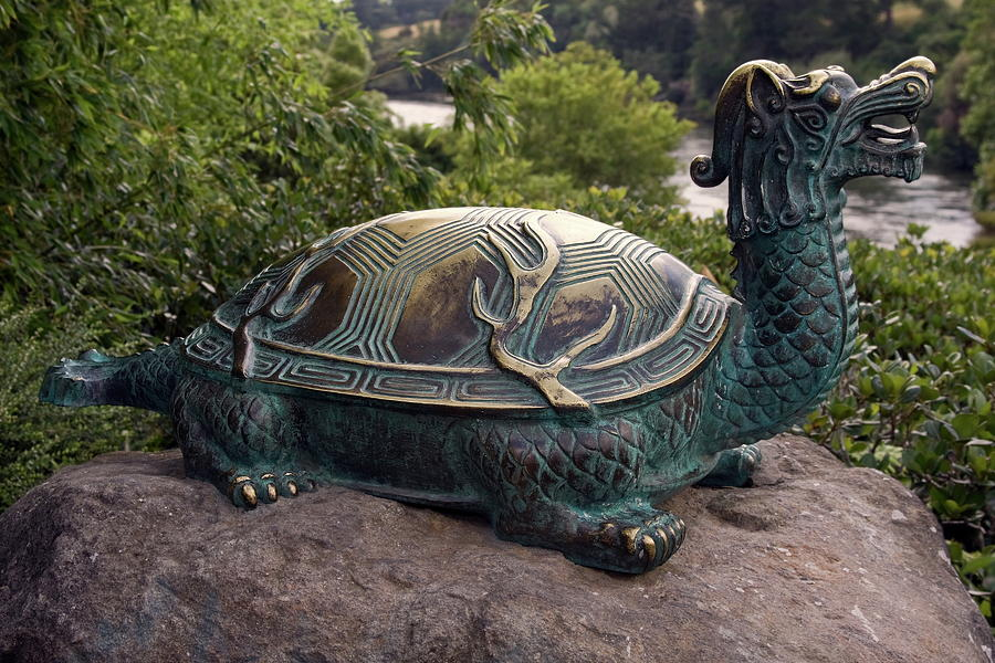 Bronze Turtle Dragon Sculpture Photograph By Sally Weigand