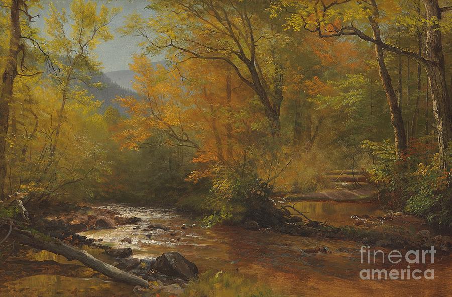 Albert Painting - Brook In Woods by Albert Bierstadt