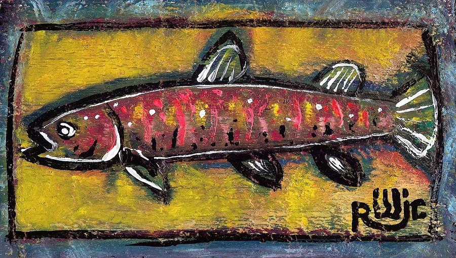 Neo-expressionism Painting - Brook Trout by Robert Wolverton Jr