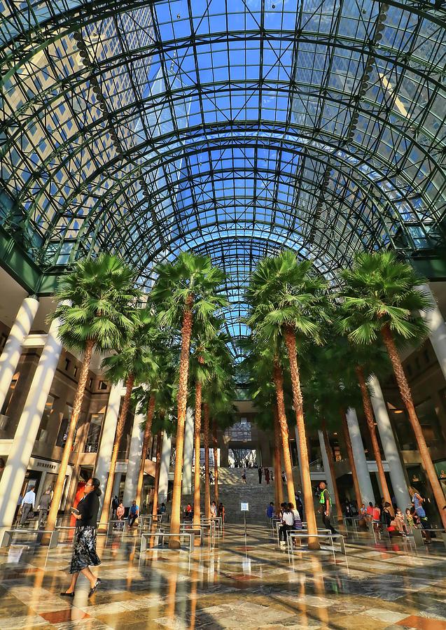 Atrium Photograph - Brookfield Place Atrium - N Y C # 2 by Allen Beatty