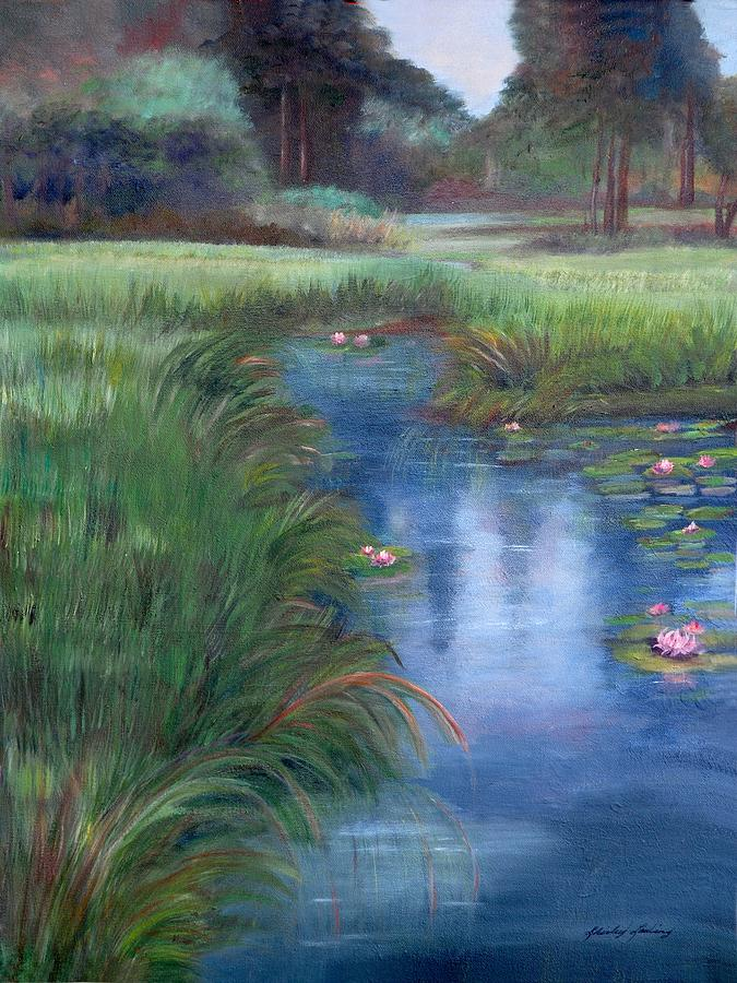 Landscape Painting - Brookgreen Meadows by Shirley Lawing
