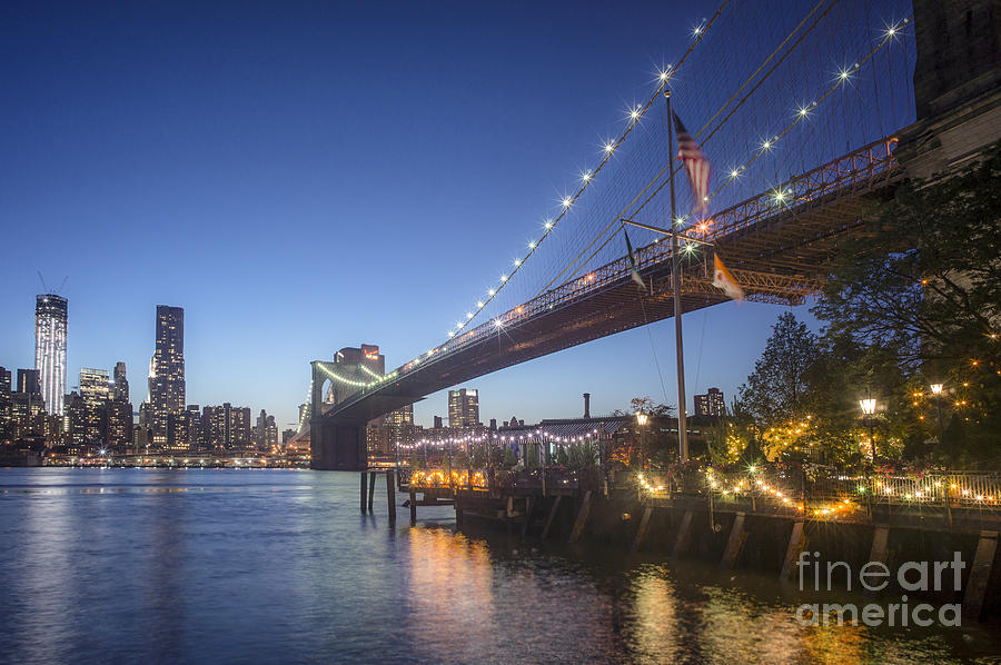 Brooklyn Brdige New York  Photograph by Juergen Held