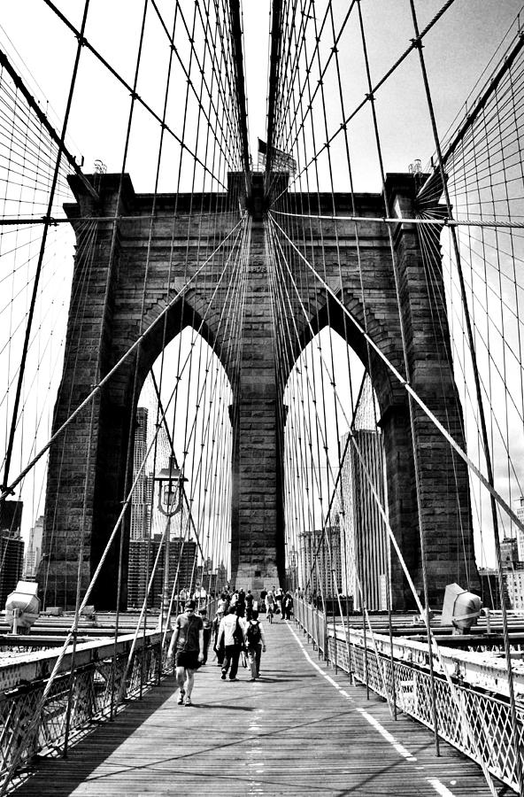 Atlantic City Photograph - Brooklyn Bridge 2 by Andrew Dinh