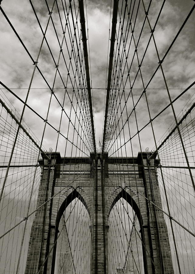 Vertical Photograph - Brooklyn Bridge by Adrian Hopkins