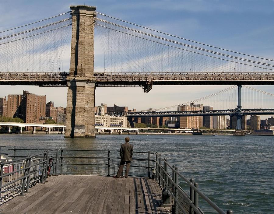Brooklyn Bridge Photograph - Brooklyn Bridge  by Andrew Kazmierski