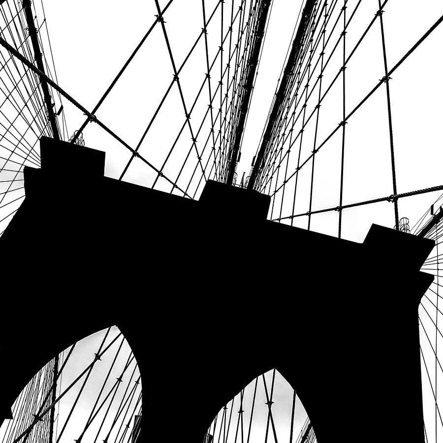Brooklyn Bridge Photograph - Brooklyn Bridge Architectural View by Az Jackson