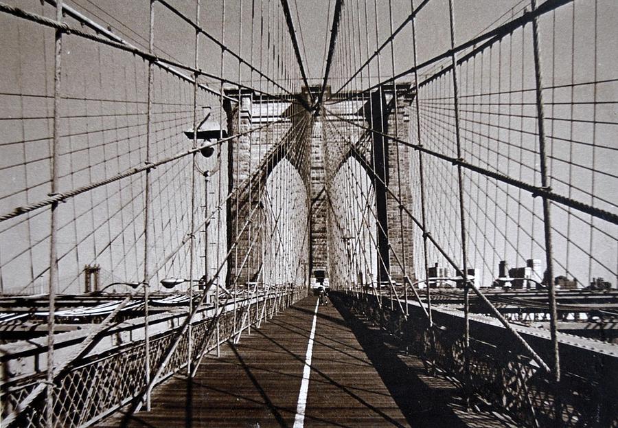 Brooklyn Bridge Photograph - Brooklyn Bridge By Art Farrar Photographs, Ny 1930 by Robert Grubbs