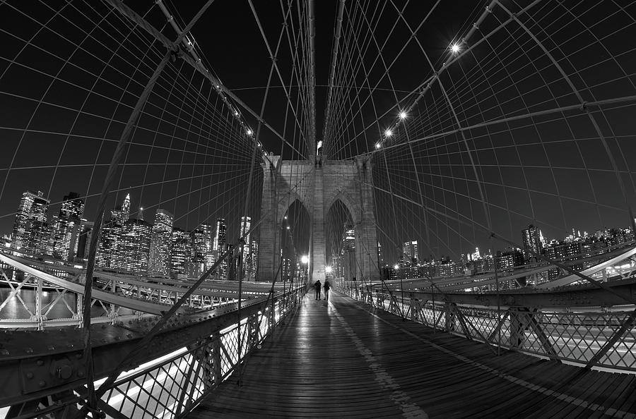 Brooklyn Bridge Cables Skyline by Clint Buhler