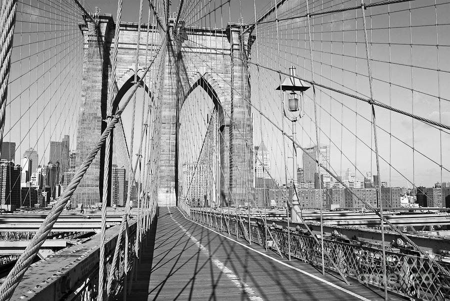 Brooklyn Bridge Photograph - Brooklyn Bridge Deck by Andrew Kazmierski