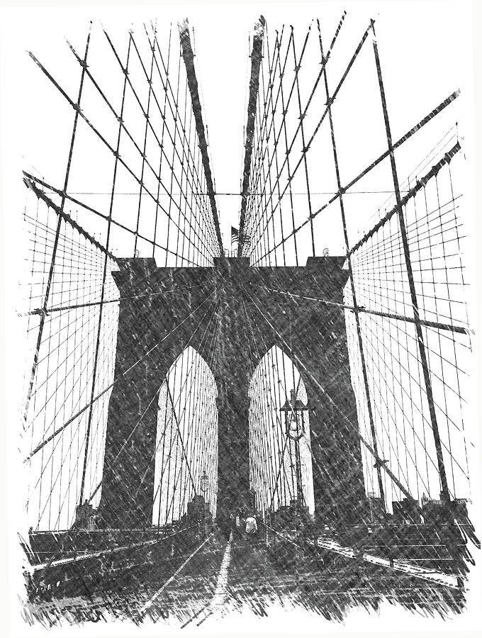 Brooklyn Photograph - Brooklyn Bridge by Dick Goodman